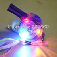 Free Shipping 50PCS/lot 3led LED Flashing Whistle LED flashing Pacifier light up Whistle led toy for party supplies