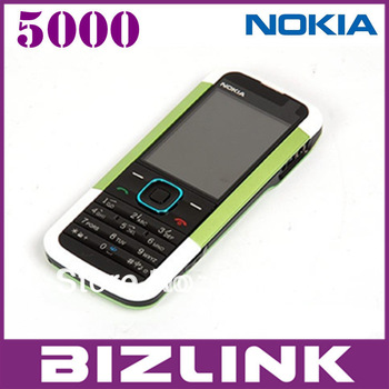 Full set  original Nokia 5000  original unlocked GSM mobile phone with  mp3 player  russian  menu multi languages!free shipping