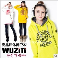 free shipping!2013 Autumn Korea Hot Leisure Suit NO 63 Women Sweater Plus velvet Thicken Hoodies
