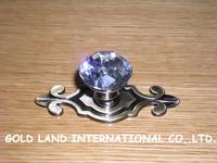 L74mm Free shipping K9 crystal glass furniture handle cabinet door handle wardrobe
