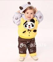 Winter baby young children's wear children cotton dress suit baby pandas wholesale brand children's cotton-padded clothes coat