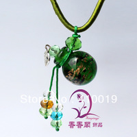 Murano Glass Perfume Necklaces (with cord) Aroma bottle Aroma vial necklace Aromatherapy Necklace