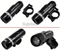 Cheap 2Pcs/Lot 2 in 1 Waterproof LED Bike Bicycle Front Light+Rear Flashlight Retail & Wholesale  184
