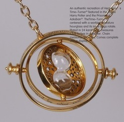 Harry Potter Time-Turner 18k gold necklace Horcrux harry potter fans gifts wholesale(China (Mainland))