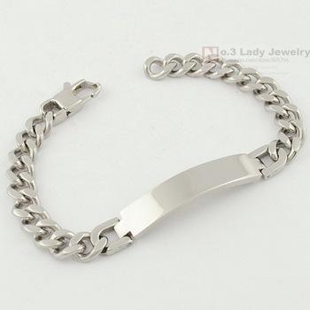 21.5cm, 9mm, Модный Stainless Steel ID Bracelet Hand Chain Mens Jewellery 2013 s, ...