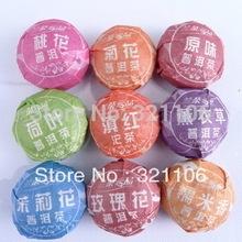 9pcs Different puerh tea Pu er Slimming Puer Ripe Raw