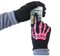 10pairs/lot IGlove Screen touch gloves skeleton-style Unisex Winter for Iphone touch glove 2 colors