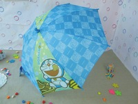 1 piece pink color flower pattern girls umbrella, kids umbrella.