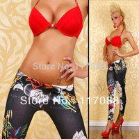 FREE SHIPPING ML7503 Women Space Print Pants BLACK Milk Galaxy Leggings