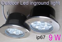 underground light led ip65,outdoor lighting led ip67,indoor underground lamp 12v 24V 110V 230V 9W Waterproof stainless steel