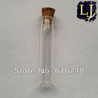Free Shipping-2ml glass bottle 20pcs/lot Bottles with wood cork,Small glass vials with cork stopper,empty bottle,mini glass jars