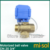 3 way motorized ball valve DN20 (reduce port), electric ball valve, motorized valve