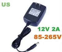DC 12V 2A Power Supply Adaptor  EU UK  AU Adapter 2pcs/lot