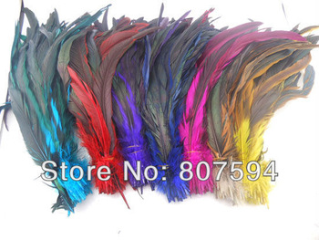 "Long 30cm 12"" 7colors Dyed DIY Turkey Hair extension pheasant tail feather feathers wedding wholesale free shipping 300pcs/lot"