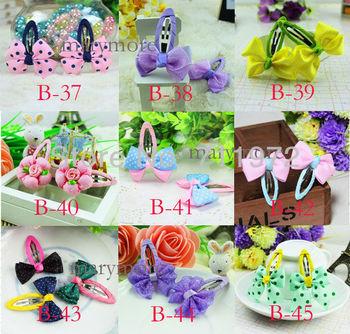 Hot sale!! mix 99 designs Baby girls cute hair clips/ hairpins fashion kids Headbands hair bows Children hair accessories