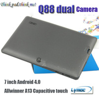 7 inch Q88 Dual camera tablet pc capacitive touch screen Allwinner A13 512MB/4GB