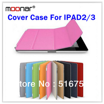 New Smart Slim Cover Magnetic PU Leather Cover Case For iPad 2 3 Wake Sleep Stand Multi-Color Free Screen Protect and Touch Pen