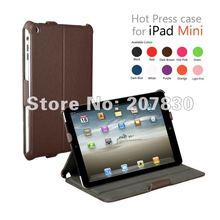 New arrival for ipad mini leather case, for ipad mini cover DHL free shipping 20pcs/lot(China (Mainland))