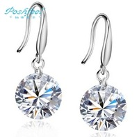 MSF brand high quality AAA swiss crystal & 925 silver & platinum female drop earrings wholesale jewelry on sale
