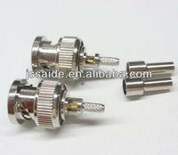 BNC male crimp connector for RG316,RG174