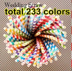 Promotion! Wholesale 300pcs Colorful Paper Straws, 22 Colors Striped & Polka Dot Paper Drinking Straws, Party/Wedding Decorate(China (Mainland))