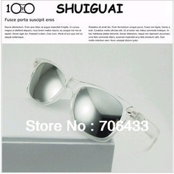 Freeshipping Hotsales New Products 2013 Punk Women Designer Sunglasses Brands Clear Frames Reflective Mirror For Summer SG-53(China (Mainland))