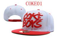 Hot sales coke boys snapback hats and caps snapbacks hat fashion customs cap free shipping whited color
