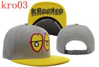 top quality  Krooked Eyes snapback hats and caps snapbacks hat  customs cap free shipping 21pcs a lot