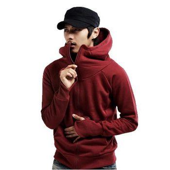 Free Shipping fleeces gloves coat fashion zipper sweatshirt male cardigan hoodie 9081