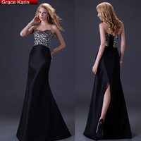 Free Shipping Grace Karin Women Strapless Leopard Evening Dresses Long Slim Party Gown Prom Formal Dress CL3423
