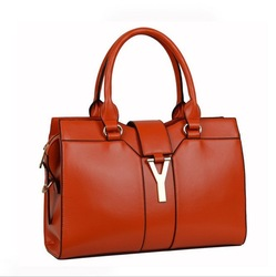 New Arrived Ladies Handbags Y Designer Second Layer Cow Leather Women Fashion Totes Shoulder Bag Free Shipping(China (Mainland))