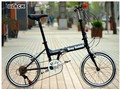 20'' Full Folding Bike,6 Speeds,High Quality Derailleur.HI-TEN Frame,V Brakes,10 Seconds Folding.GREY RABBIT