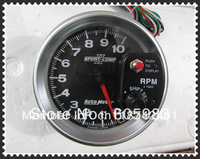 "factory outlets 5"" Tachometer SUPER WHITE LED DISPLAY RPM GAUGE,4PCS/CTNS(in stock)"