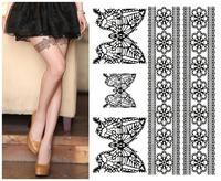 Leg Body Lace Tattoo Stickers /Safe Temporary Tattoo Sticker can mix