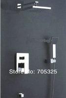 8'' Square Shower Head Single Handle Wall Mount Rain Shower Set  Chrome Finish JN-0024