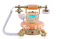 Free shipping  Antique Jade Telephone Designer Novelty Home Phone 5401b