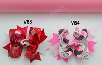 free shipping 30 pcs fashion Valantine's Day hair bows funky boutique hair bows girl hair bow clips