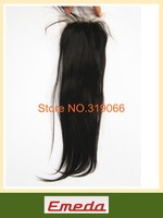 Hot sell Queen Brazilian virgin hair natural straight 4 * 4 lace closure