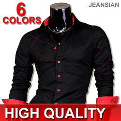 Mens Fashion Cotton Designer Cross Line Slim Fit Dress man Shirts Tops Western Casual S M L XL 2028(China (Mainland))