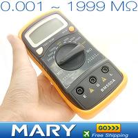 2012 Hot selling Digital Insulation Resistance Tester Meter 0.001-1999M Omega multimeter free shipping