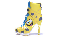 2013 SB high heels sport women sneakers chaussures sport heels Pumps for fashion, booties high heels 36 - 41 Spongebob shoes