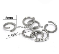304L Stainless Steel Open Jump Rings 0.8x5mm jumpring Findings ,1000pcs/lot
