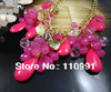 2012 New Arrival Unique Attractive Gold White Pink Blue Orange Green Waterdrop Teardrop Choker Bib Statement Necklaces for women