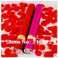 Free Shipping Wholesale 5pcs/lot 40cm Rose Petals Fireworks Wedding Cylinder Wedding Concierge Flower Two Color To Choose