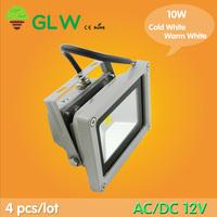 floodlight  10pcs/Lot 12V AC/DC  LED Flood Light 10W Warm White Outdoor Lights High Power IP65 RGB Green Blue Yellow Red LW2
