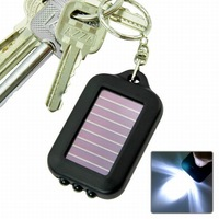 Free Shipping MINI 3LED solar light key ring can print any LOGO on it