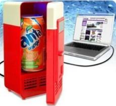 Fress shipping 4pcs/lot, New Mini USB USB Fridge Cooler Gadget Beverage Drink Cans Cooler/Warmer Refrigerator