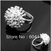 R001  // Factory Price 925 jewelry hot sale silver plated Rings,  wholesale fashion New Big promotion Fireworks Rings
