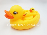 Set of 3 + 1 duck  Squeaky Bath Tub Toy Baby Infant Bath Rubber Duck