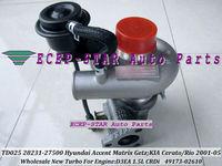 TD025M 28231-27500 27500 49173-02620 49173-02610 Turbo Turbocharger For HYUNDAI Accent Getz Matrix Cerato 2001-05 D3EA 1.5L CRDI